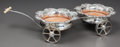 Decorative Arts, British:Other , A VICTORIAN SILVER-PLATED WAGON-FORM WINE CRADLE. Circa 1900. 19inches long (48.3 cm). ...