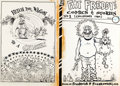 Original Comic Art:Covers, Gilbert Shelton Fat Freddy's Comics & Stories #1 Frontand Back Cover Original Production Art (Rip Off Press, 1983...(Total: 2 Items)