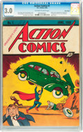 Golden Age (1938-1955):Superhero, Action Comics #1 Billy Wright pedigree (DC, 1938) CGC GD/VG 3.0Off-white to white pages....