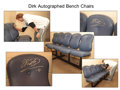 Basketball Collectibles:Others, 2011 Dallas Mavericks Bench Seats Row of Three Signed by DirkNowitzki, Part Three....