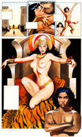 Original Comic Art:Panel Pages, Jim Silke Bettie Page Queen of the Nile #3 Painted Page 23Original Art (Dark Horse, 1999)....
