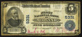National Bank Notes:Maryland, Midland, MD - $5 1902 Plain Back Fr. 607 The First NB Ch. # 5331....