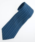 Luxury Accessories:Accessories, Hermes 9cm Blue Silk Tie. ...