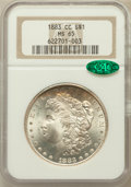 Morgan Dollars: , 1883-CC $1 MS65 NGC. CAC. NGC Census: (4067/1120). PCGS Population(7551/1988). Mintage: 1,204,000. Numismedia Wsl. Price f...