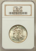 Walking Liberty Half Dollars: , 1934 50C MS67 NGC. NGC Census: (95/10). PCGS Population (128/8).Mintage: 6,964,000. Numismedia Wsl. Price for problem free...