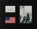 Autographs:Military Figures, Charles W. Lindberg Signed Card....