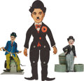 Movie/TV Memorabilia:Memorabilia, A Charlie Chaplin-Related Group of Vintage Collectibles, Circa1920s-1930s.... (Total: 3 Items)