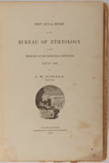 Books:Americana & American History, [Ethnology]. J. W. Powell. First Annual Report of the Bureau ofEthnology. Washington: Government Printing Office, 1...