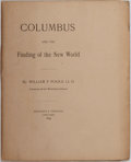 Books:Americana & American History, [Columbus]. William F. Poole. Columbus and the Finding of theNew World. Chicago: Privately printed, 1892. Poole w...