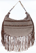 Luxury Accessories:Bags, Marc Jacobs Metallic Brown Leather Fringe Hobo Bag. ...