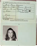 """Movie/TV Memorabilia:Props, A Patty Duke Prop Passport from """"Two On A Bench.""""..."""