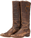 "Movie/TV Memorabilia:Costumes, A Joseph Cotten Pair of Boots from ""Duel in the Sun.""..."