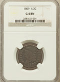 Half Cents: , 1809 1/2 C Good 4 NGC. NGC Census: (5/327). PCGS Population(2/295). Mintage: 1,154,572. Numismedia Wsl. Price for problem ...