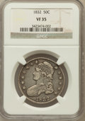 Bust Half Dollars: , 1832 50C Small Letters VF35 NGC. NGC Census: (48/1846). PCGSPopulation (108/1899). Mintage: 4,797,000. Numismedia Wsl. Pri...