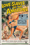 "Movie Posters:Adventure, Love Slaves of the Amazons (Universal International, 1957). OneSheet (26.5"" X 39.5""). Adventure.. ..."