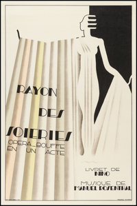 "Rayon des Soieries (1930s). Opera French Affiche (31"" X 47"") Second Issue. Miscellaneous"