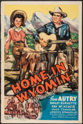 """Movie Posters:Western, Home in Wyomin' (Republic, 1942). One Sheet (27"""" X 41""""). Western.. ..."""