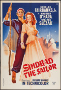 "Movie Posters:Adventure, Sinbad the Sailor (RKO, R-1959). French Affiche (31.5"" X 47""). Adventure.. ..."
