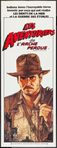 "Movie Posters:Adventure, Raiders of the Lost Ark (Paramount, 1981). French Poster (23.5"" X62.5""). Adventure.. ..."