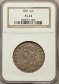 Bust Half Dollars: , 1831 50C AU53 NGC. NGC Census: (117/1020). PCGS Population(140/923). Mintage: 5,873,660. Numismedia Wsl. Price for problem...
