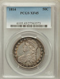 Bust Half Dollars: , 1814 50C XF45 PCGS. PCGS Population (61/307). NGC Census: (66/426).Mintage: 1,039,075. Numismedia Wsl. Price for problem f...