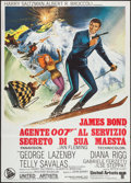 "Movie Posters:James Bond, On Her Majesty's Secret Service (United Artists, 1970). Italian 2 -Foglio (39.5"" X 55""). James Bond.. ..."
