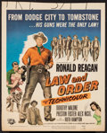 "Movie Posters:Western, Law and Order (Universal International, 1953). Window Card (14"" X 17.25""). Western.. ..."
