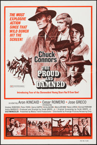 """Chuck Connors in The Proud and the Damned & Others Lot (Interfilm, 1972). One Sheets (8) (27"""" X 41""""). Adve..."""