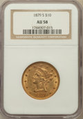 Liberty Eagles: , 1879-S $10 AU58 NGC. NGC Census: (199/111). PCGS Population(51/64). Mintage: 224,000. Numismedia Wsl. Price for problem fr...