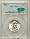 Washington Quarters: , 1941 25C MS67 PCGS. CAC. PCGS Population (85/1). NGC Census:(196/2). Mintage: 79,047,288. Numismedia Wsl. Price for proble...