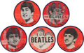 Music Memorabilia:Memorabilia, Beatles Set of Five Red Flasher Buttons (Circa 1964). ... (Total: 5 Items)