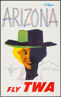 """Movie Posters:Miscellaneous, TWA Airlines Arizona (1960s). Travel Poster (25"""" X 40""""). Miscellaneous.. ..."""