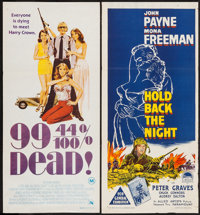 "Chuck Connors in 99 and 44/100% Dead & Others Lot (20th Century Fox, 1974). Australian Daybills (8) (13.5"" X 28..."