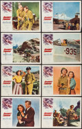 "Movie Posters:War, Dragonfly Squadron (Allied Artists, 1954). Lobby Card Set of 8 (11""X 14""). War.. ... (Total: 8 Items)"