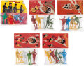 Music Memorabilia:Memorabilia, Beatles Plastic Figurines in Original Packaging, Five Sets (Spain,Circa 1960s).... (Total: 5 Items)