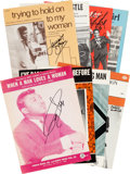 Music Memorabilia:Sheet Music, Male Soul Singers' Signed Sheet Music Collection (Eight)....(Total: 8 Items)