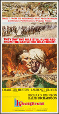 "Movie Posters:Adventure, Khartoum (United Artists, 1966). Three Sheet (41"" X 80"") NewCampaign Style. Adventure.. ..."