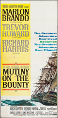 "Movie Posters:Adventure, Mutiny on the Bounty (MGM, 1962). Three Sheet (41"" X 78""). Adventure.. ..."