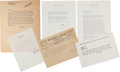 Movie/TV Memorabilia:Documents, A Marilyn Monroe-Received Group of Correspondence, 1958-1962.. ...(Total: 5 Items)