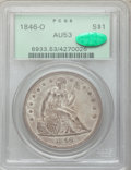 Seated Dollars, 1846-O $1 AU53 PCGS. CAC....