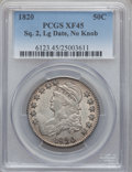 Bust Half Dollars: , 1820 50C Square Base No Knob 2, Large Date XF45 PCGS. PCGSPopulation (18/62). ...