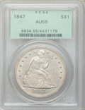 Seated Dollars, 1847 $1 AU55 PCGS....