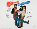 Music Memorabilia:Autographs and Signed Items, The Monkees Headquarters Lithograph Signed by All Four. ...