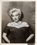 Movie/TV Memorabilia:Autographs and Signed Items, A Marilyn Monroe Signed Black and White Rare Photograph, Circa1953....