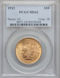 Indian Eagles: , 1912 $10 MS62 PCGS. PCGS Population (2073/1199). NGC Census:(2522/1396). Mintage: 405,083. Numismedia Wsl. Price for probl...