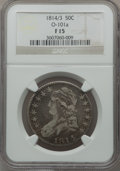 Bust Half Dollars: , 1814/3 50C Fine 15 NGC Details. O-101a. NGC Census: (2/434). PCGSPopulation (5/162). Numismedia Wsl. Price for problem f...