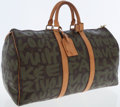 Luxury Accessories:Bags, Louis Vuitton Extremely Rare 2001 Limited Edition Monogram Graffiti by Stephen Sprouse Keepall 50 Weekender Bag. ...