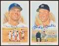 Baseball Collectibles:Others, 1960's Mickey Mantle Topps Coins, Duke Snider and Mantle SignedPostcards and More....