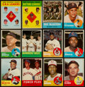 Baseball Cards:Lots, 1963 Topps Baseball Collection (190) With Many Stars Including Mantle. ...