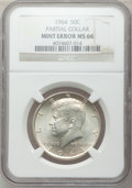 Errors, 1964 50C Kennedy half Dollar -- Partial Collar -- MS66 NGC....